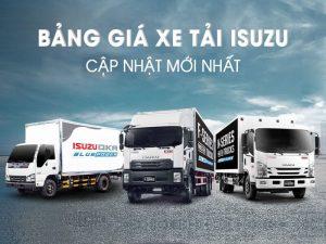 Báo giá xe tải ISUZU mới nhất